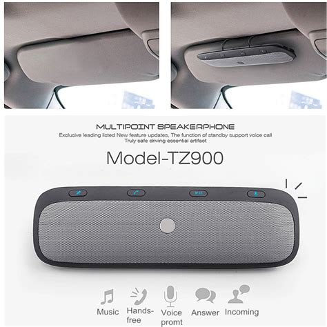 Bluetooth Empf Nger Auto by Tz900 Sonnenblende Bluetooth Empf 228 Nger Auto
