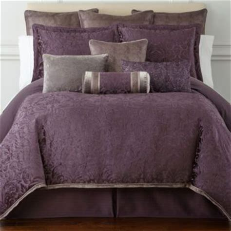 purple velvet comforter set royal velvet 174 fenice 4 pc jacquard comforter set