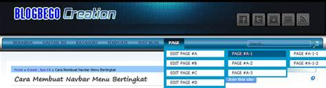 membuat navbar cara membuat navbar menu bertingkat ke2 blogbego creation