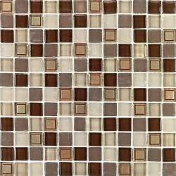 kitchen bathroom brown white deco iridescent glass mosaic