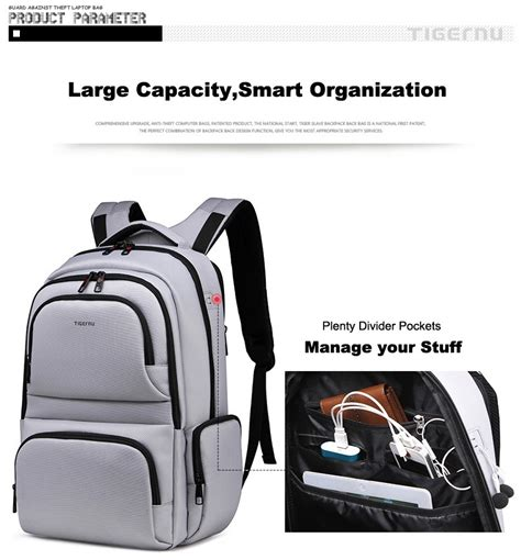 Harga Quicksilver Bag tigernu tas ransel laptop travel 17 inch t b3140 gray jakartanotebook