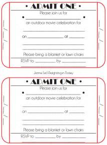 ticket invitation template 8 best images of free printable ticket invitation free