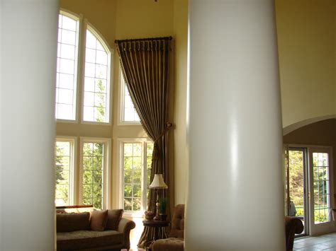 high ceiling window curtains window covering ideas