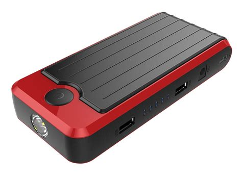 Power Bank Jump Starter powerall rosso black portable power bank and car jump