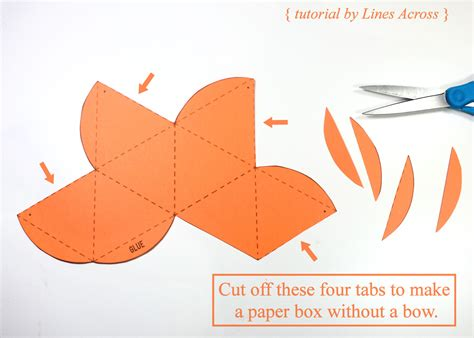 Make A Paper Gift Box - diy gift boxes with free printable octahedron