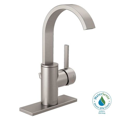 delta brushed nickel kitchen faucet delta mandolin 4 in centerset single handle bathroom