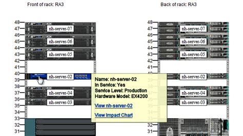 server rack diagrams device42 software