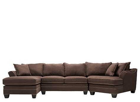 foresthill sectional foresthill 3 pc microfiber sectional sofa chocolate