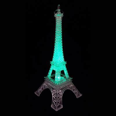 eiffel tower centerpiece lights 10 quot eiffel tower centerpiece with led light wrapwithus