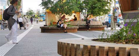 Landscape Timber Bench Urban Street Furniture Home Design