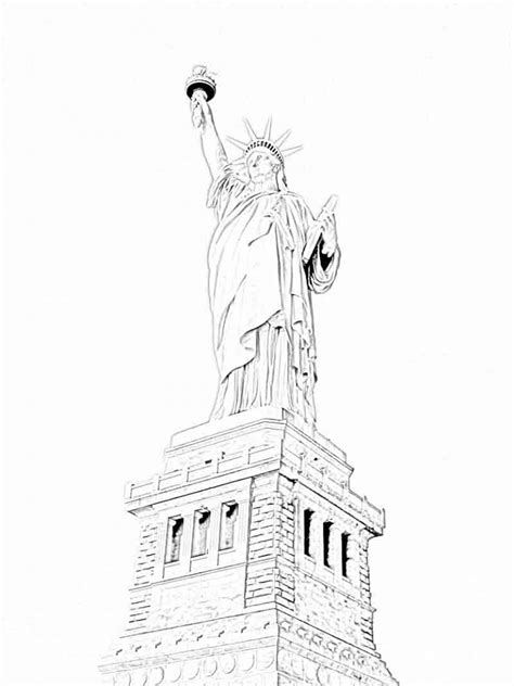free printable statue of liberty coloring pages for kids