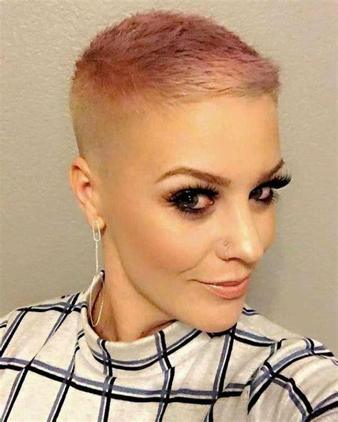 bald women haircuts buzz cuts videos 266 best hair pixie buzz cuts short hair images on