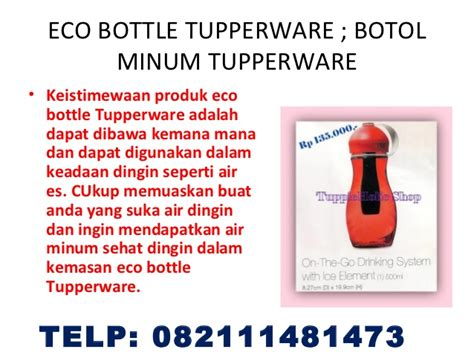 Tupperware Botol Minum 1 Liter botol minum eco bottle tupperware eco bottle 500 ml eco
