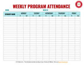 weekly attendance sheet template search results for free attendance weekly sign in sheets