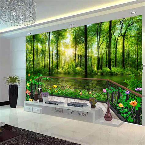 wall murals for rooms 3d wallpaper bedroom mural modern living room tv mountain