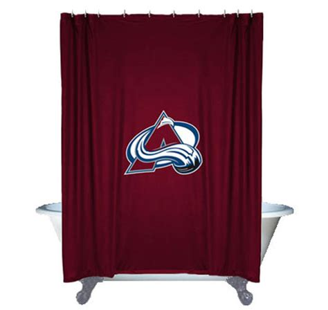 hockey shower curtain nhl colorado avalanche shower curtain hockey bathroom