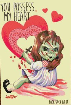 valentines horror horror colouring pages printables horror