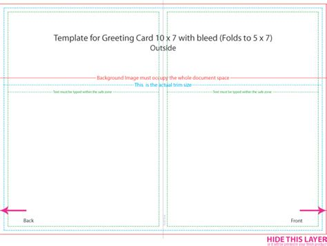 5 215 7 Greeting Card Business Letter Template 5 X 7 Folded Card Template