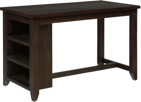 Prospect Creek Counter Height Table With 3 Shelf Storage Dining Table Catalogue