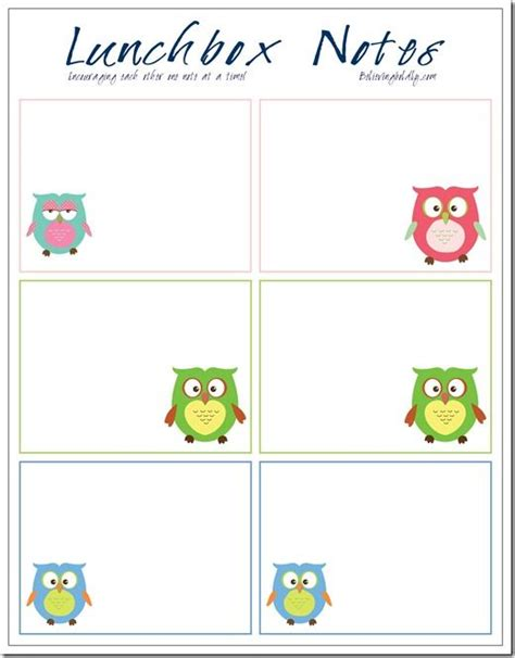 printable lunchbox notes free blank lunchbox note printables parenting