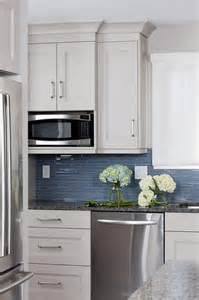 Blue Kitchens With White Cabinets by White And Blue Kitchens Transitional Kitchen