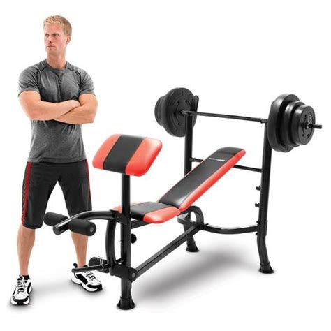 competitor weight bench with 100 pound weight set competitor bench 100 lb weight set cb 2982 quality strength