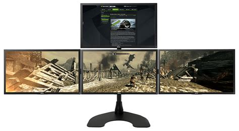 gaming desk for 3 monitors ergotech pc gaming desk stands