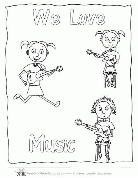 cute music coloring pages music coloring sheet kids coloring