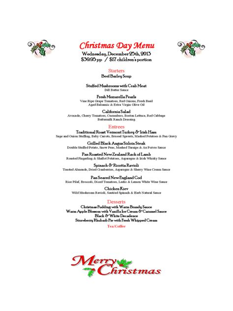 christmas menu template 17 free templates in pdf word