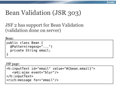 pattern bean validation richfaces 4 webinar new and advanced features