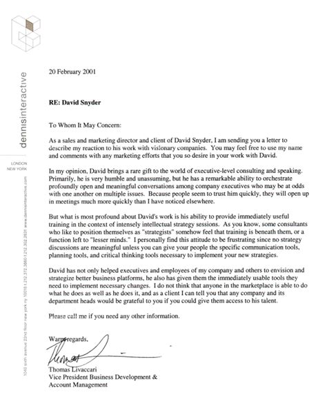 format for letter of recommendation letter of recommendation