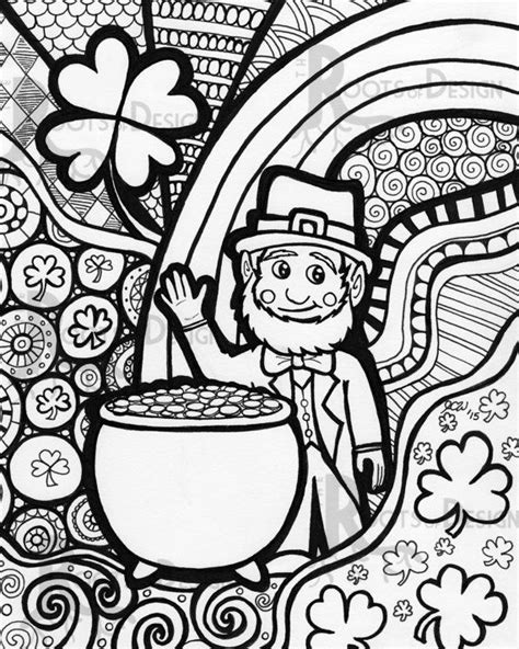 coloring pages for adults st patrick s day 17 best images about color pages on pinterest raggedy