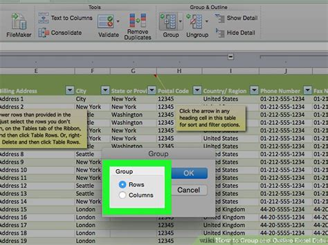 Two Point Outline Exle by How To And Outline Excel Data 14 Steps With Pictures