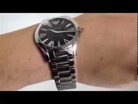 Emporio Armani Super Slim Stainless Steel Watch AR2022   YouTube