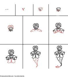 draw donald duck step by step disney characters