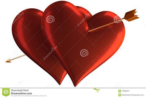 imagenes de corazones con flechas dos corazones y flechas imagenes de archivo imagen 14326344