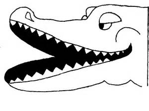 crocodile mask template free masks to print out