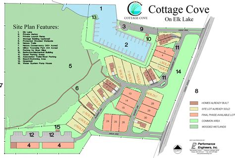 crystal lake boat rv storage cottage cove community site plan