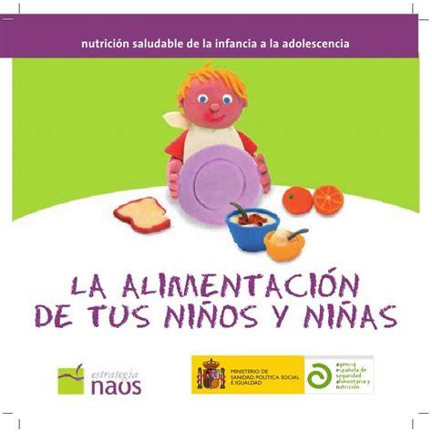 ministerio de alimentaci n manual de alimentaci 243 n para ni 241 os y ni 241 as ministerio de