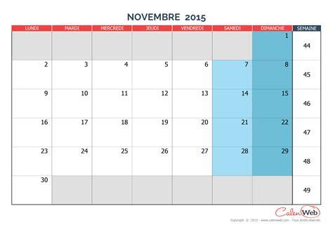 Calendrier 3 Mois 2015 Calendrier Novembre 2015 Images