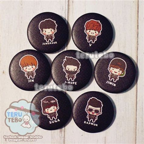 Patch Bts Bangtan Boys handmade accessories patches pins kpop logo chibi bts