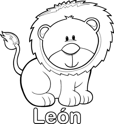dibujos para colorear de leones actividades infantiles y beb 233 s animales dibujos imagui