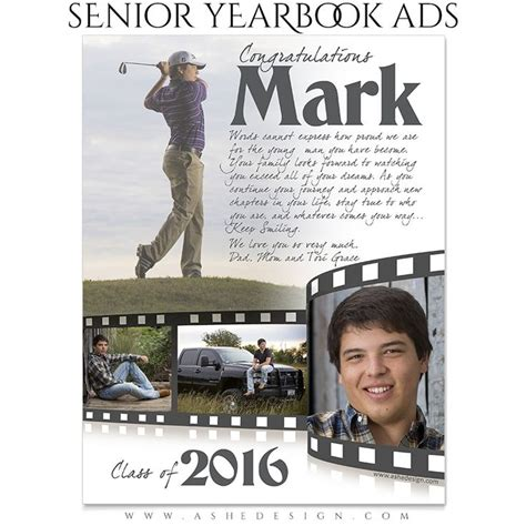 senior ad template senior yearbook ads for photoshop pg