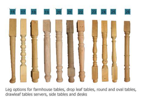 dining table leg styles touchwood uk leg styles