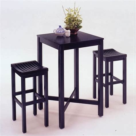 Black Bar Table Home Styles Furniture Contour Black Table Bar Stool Pub Set Ebay
