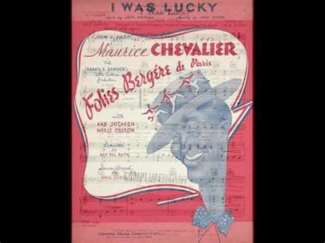 maurice chevalier lyrics maurice chevalier i was lucky k pop lyrics song