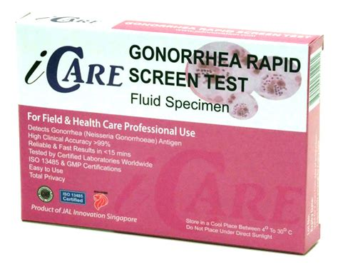 icare gonorrhea home test kit rapid test kit mart