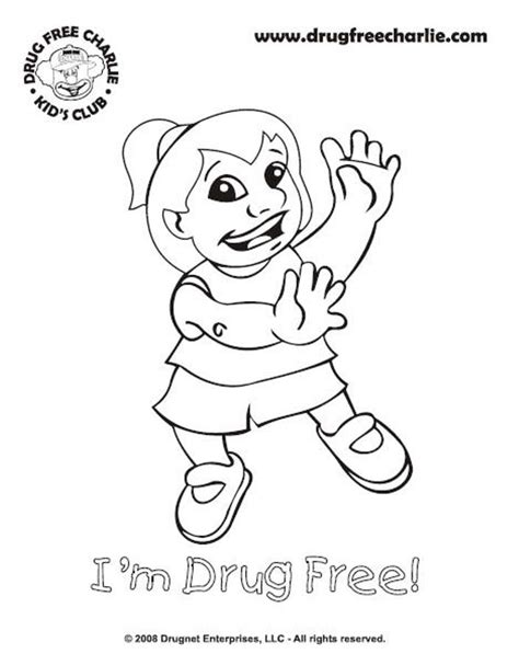 drug free charlie coloring pages