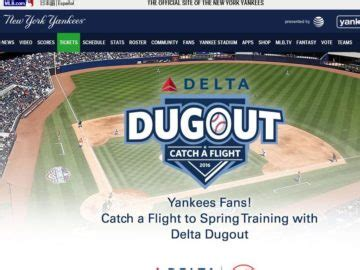Delta Sweepstakes - delta dugout new york yankees sweepstakes