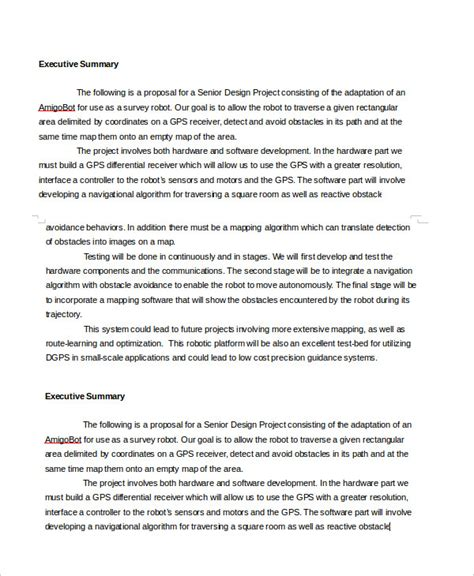 Executive Summary Template 8 Free Word Pdf Documents Download Free Premium Templates Executive Summary Design Template